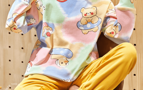 猫人卡通春夏季纯棉睡衣