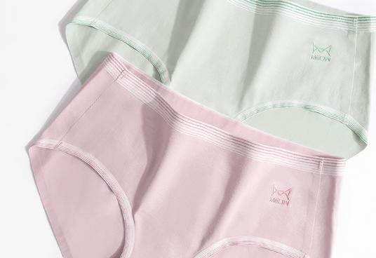 猫人纯棉无痕抑菌裆中腰提臀内裤